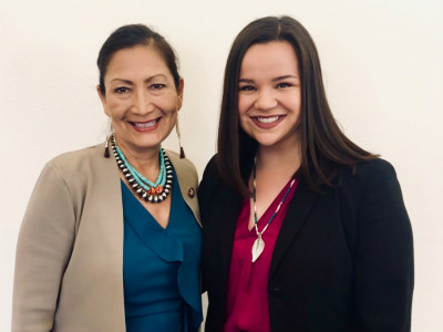 Congresswoman Deb Haaland and Julie Combs