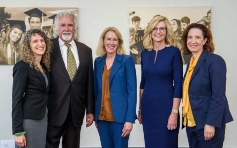 Roni Amit, Terry West, Lyn Entzeroth, Kim Henry, Janet Levit at the opening of the Terry West Civil Legal Clinic